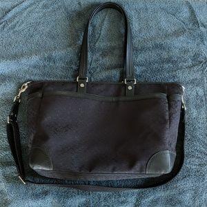 Black Coach Diaper/Overnight Bag